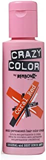 crazy colour coral red