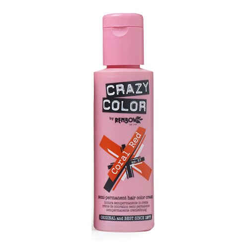 Crazy Color Coral Red Nº 57 Crema Colorante del Cabello Semi-permanente