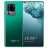 Jiawu Smartphone, Support Expansion 128GB Phone, 3G SIM Card 720x1560 HD Fingerprint Unlock Phone, for Gift(Green, 12)