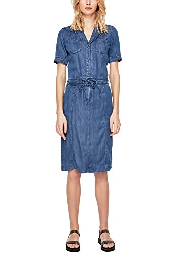 s.Oliver Damen 14.804.82.7798 Kleid, Blau (Blue Denim Non Stretch 55Y5), 36