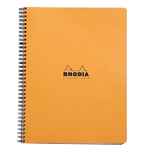 Rhodia 4 Color Book 9 in. x 11 3/4 in. Orange