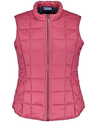 Samoon Damen 340003-21650 Outdoor Weste, Rosa (Dusty Pink 3040), (Herstellergröße: 48)