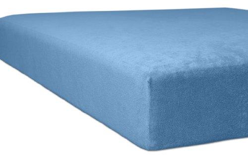 Kneer 1001234 Flausch-Frottee Spannbetttuch Qualität 10, Größe 120/200-130/200 cm, Korn