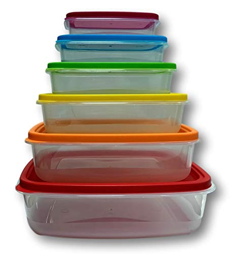 Cflagrant Lot de 6 Boites Alimentaires de Conservation Empilables en Plastique sans...