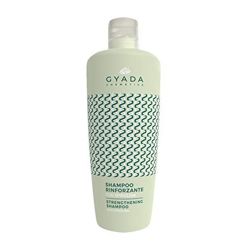 Gyada Cosmetics Shampoing renforcé avec spirale ● certifié bio ● Fabriqué en Italie ● 250 ml