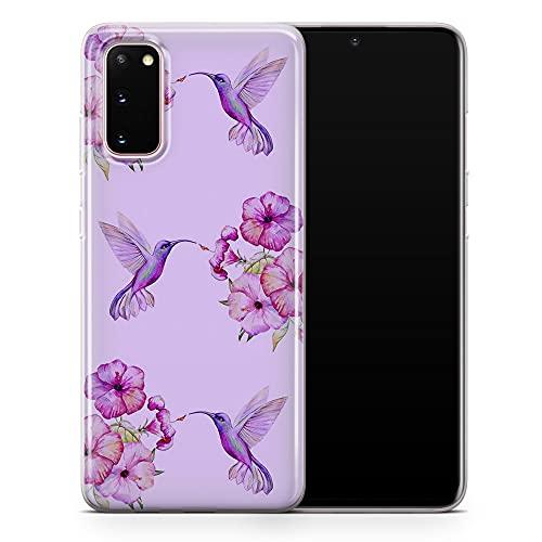 Para Samsung Note 10 Plus - Funda para teléfono con diseño de pájaros de acuarela voladora, diseño floral de arte estético – Delgada a prueba de golpes y suave silicona TPU – Diseño 4 – A109