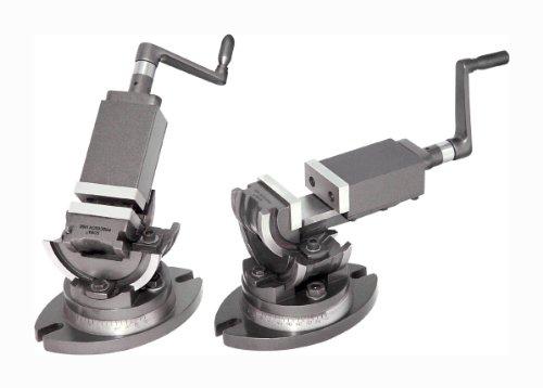 Verstellbarer 3-Wege Präzisionsmaschinenschraubstock (kippbar, seitlich verstellbar und drehbar) mit 50 mm Backenbreite