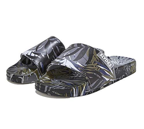 Slydes Cyberise - Zapatillas para Hombre, Color Negro