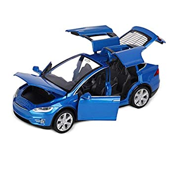 1 32 Scale Model Model X90 Diecast Car Toys For Kids Pull Back Alloy Collectible Vehicle Toy Door Opening with Lights and Music Birthday Gift for Boys Toddlers  6  L,Blue