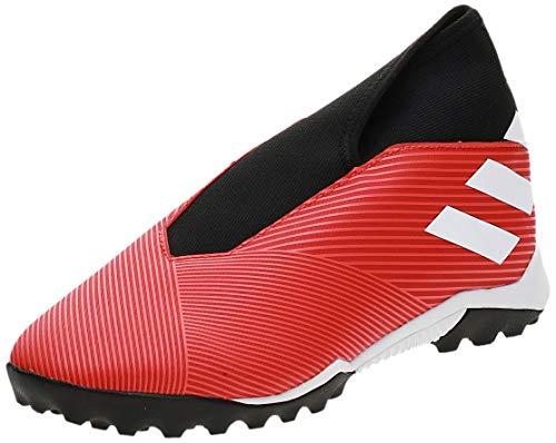 adidas Nemeziz 19.3 Laceless Turf, Zapatilla de fútbol, Active Red-White-Solar Red, Talla 9.5 UK (44 EU)