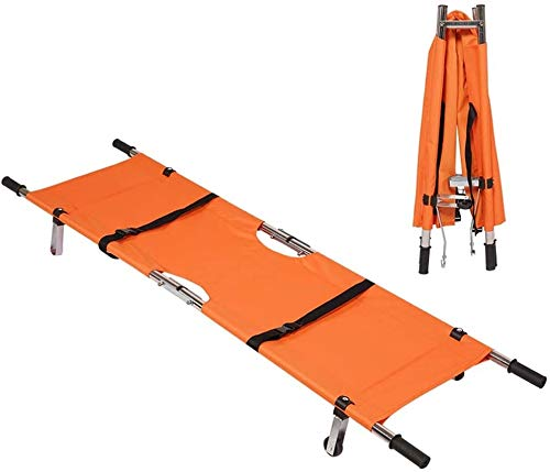 La camilla con la correa protectora y los rodillos se aplican para rescatar el tratamiento médico de los primeros auxilios, la camilla plegable de acero inoxidable plegable, la camilla para el hogar p