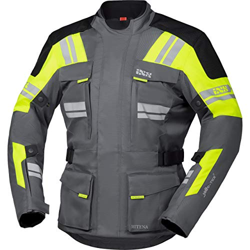 IXS Motorradjacke mit Protektoren Motorrad Jacke Blade-ST 2.0 Tour Textiljacke grau/Neongelb/schwarz L, Herren, Tourer, Ganzjährig, Polyester