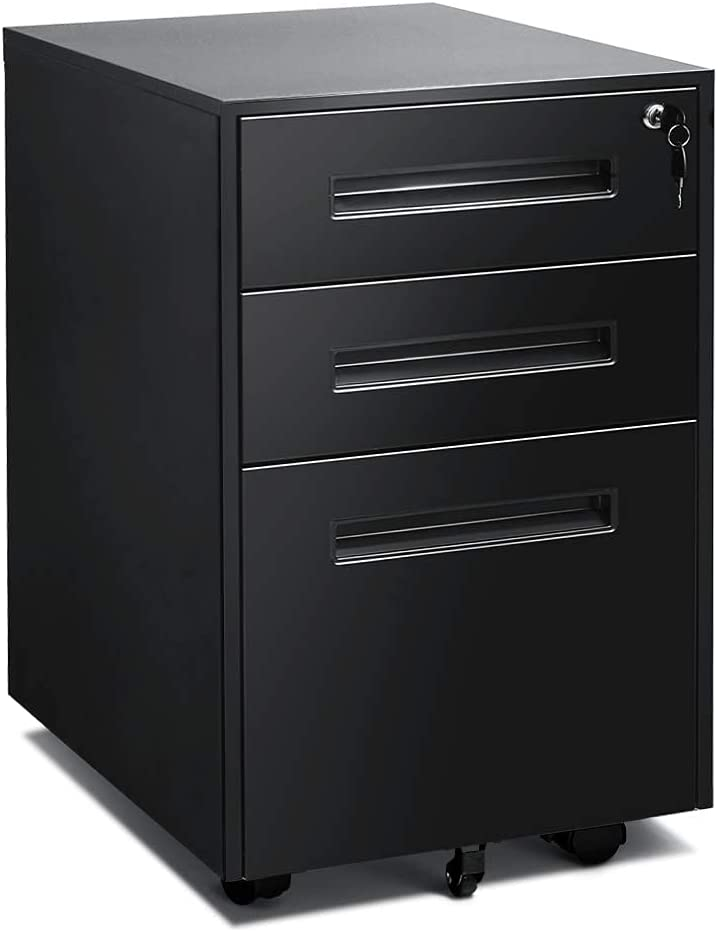 3 Drawer File Cabinet with Lock Colorado Springs Mall Offi Filling Metal 2021 spring and summer new Cabinets for