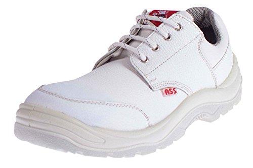 ASS® Herren Sicherheitsschuhe S3 SRC - Echt Leder - Weiß Flach Größe 39