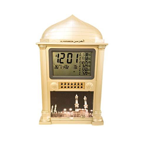 Grote islamitische Azan wekker, islamitische gebed muur klok, digitale LCD-scherm tijdkalender klok voor huis, Masjid en moskee