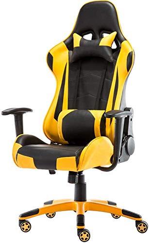 Sedie Gaming Computer Gaming sedia con schienale alto sedia computer esecutivo ergonomica regolabile girevole sedia di operazione con poggiatesta e supporto lombare (Colore: Multi-Colored, Dimensione: