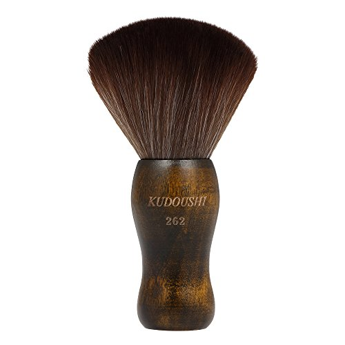 Anself Large Hair Cutting Neck Duster Brush Professional Barber Natural Fiber Wooden Handle Cutting Kits