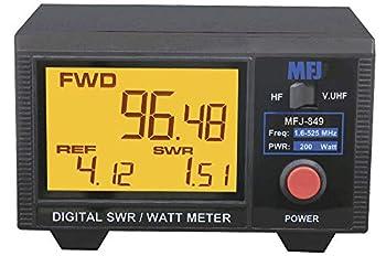 MFJ-849 HF/VHF/UHF 1.5-525 Mhz Digital SWR/Wattmeter 200W