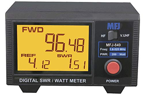 MFJ-849 HF/VHF/UHF 1.5-525 Mhz Digital SWR/Wattmeter, 200W. Buy it now for 190.89