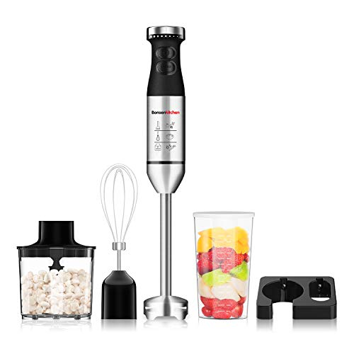 Bonsenkitchen Hand Blender, 4-in...