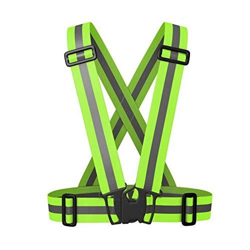 AMONIDA Chaqueta de Trabajo Reflectante Verde Fluorescente, Chaleco de Trabajo de Seguridad, Banda Reflectante Impermeable de 120 g Transpirable para tráfico en Bicicleta Nocturna(Fluorescent Green)