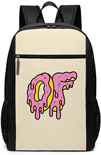 TTmom Mochilas Tipo Casual,Bolsa de Viaje Donut Logo Backpack Laptop Backpack School Bag Travel Backpack 17 Inch