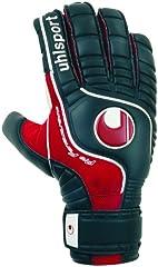 Uhlsport - Guantes de Portero Pro Comfort Textile, tamaño 9, Color Negro/Rojo