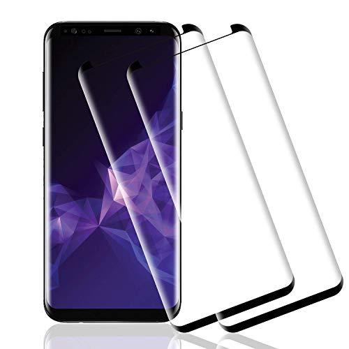 Wiestoung Proteggi schermo in vetro temperato per Samsung Galaxy S9, [2 pezzi] [resistente ai graffi] [senza bolle] [bordo 2.5D] Pellicola protettiva vetro trasparente HD per Samsung Galaxy S9