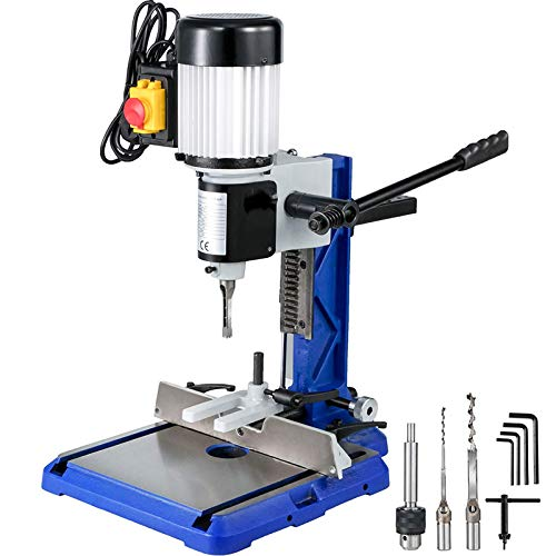 VEVOR Bench Mortiser 3/4 HP,Woodworking Mortise Machine with Heavy-Duty Cast-Iron Base,Benchtop Mortising Machine,for Making Round Holes Square Holes, or Special Square Holes in Wood