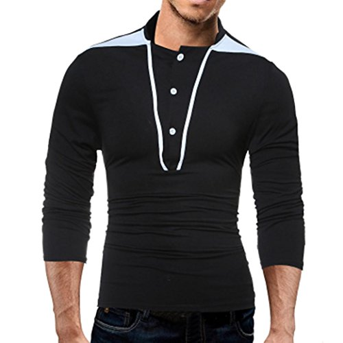 ZYooh Premium High Collar Men's Long Sleeves,Fashion Button Stand-up Tight Casual Dress Shirt Blouse (L2, Gray)