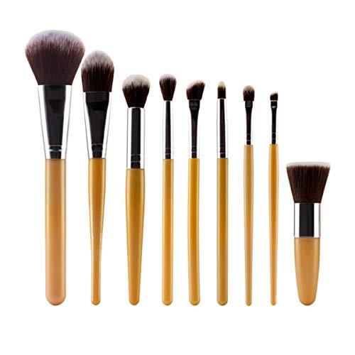 Uspicy Make Up Pinsel Make Up Pinsel Set Professionelle 9Pcs Make-up Pinsel Set Lidschatten Concealer Powder Foundation Blush Form-Gesichts-Kosmetik-Pinsel-Werkzeuge, (Farbe : 3, Size : One Size)