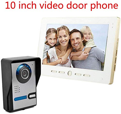 Lsmaa video deurbel, 10 inch groot scherm HD 700 lijnkleur video-intercominstallatie, bel één naar één beeldweergavecapaciteit 100 (%) Scope Villa kantoorgebouwen, enz.