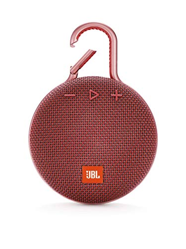 JBL Clip 3 Ultra-Portable Wireless Bluetooth Speaker with Mic (Red) (K951508) (Electronics)