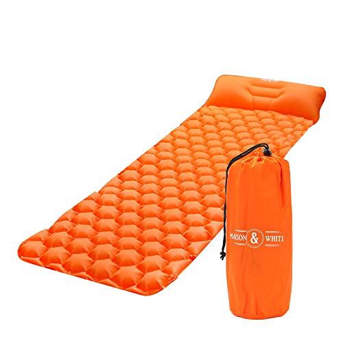 Ultraleichtes tragbares Luftbett | Aufblasbare Camping-Schlafmatratze | Leichte Schlafmatte | Aufblasbares Outdoor-Bett mit Tragetasche | M&W