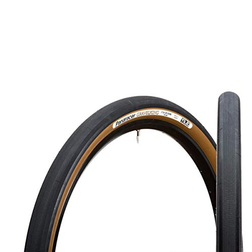 Panaracer Gravelking TLC - Rueda Plegable Unisex, 700 x 35C, Color Negro y marrón