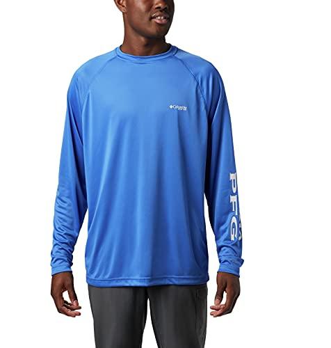 Columbia Terminal Tackle T-Shirt à Manches Longues pour Homme XXL Logo Bleu et Gris coloré.