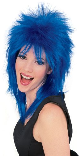 Rubie's unisex adult Rock Star Blue Spiked Wig Party Supplies, Blue, One Size US