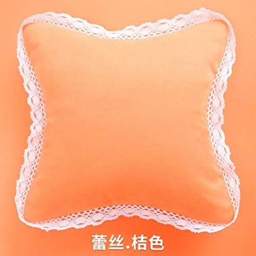 xiaoxong658 Throw Pillow Dh1959 Sofa Pillow Living Room Cushion Bay Window Office Bedside backrest car Square cushion-45x45cm [Cover + Core] Suitable for Sofa and Chair_Orange Square Pillow