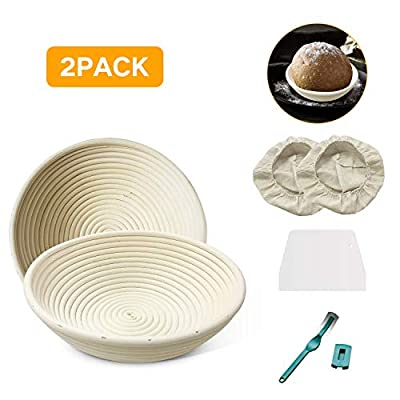 Bread Proofing Basket,6 Inch Round Baking Bowl ...