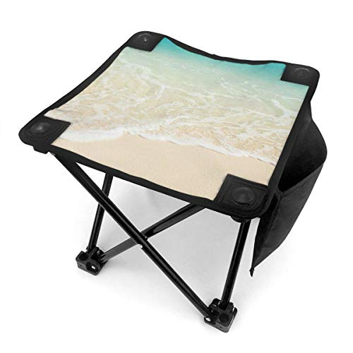End Nazi Tabouret de Camping chaises Pliantes Summer Beach Theme Clean Sea Wave Portable Chair Seat