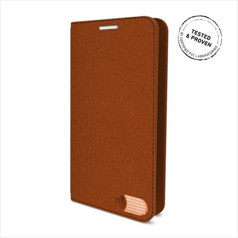 Vest Anti-Radiation Wallet Card Holder Case PU Leather Samsung Galaxy S6 Brown