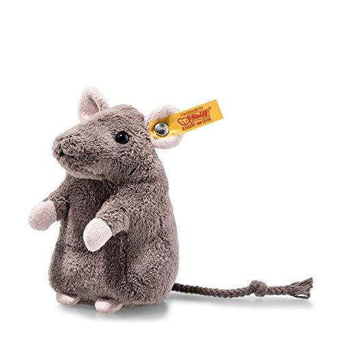Steiff Meg Maus - 11 cm - Kuscheltier für Kinder - weich & kuschelig - waschbar - grau (674747)