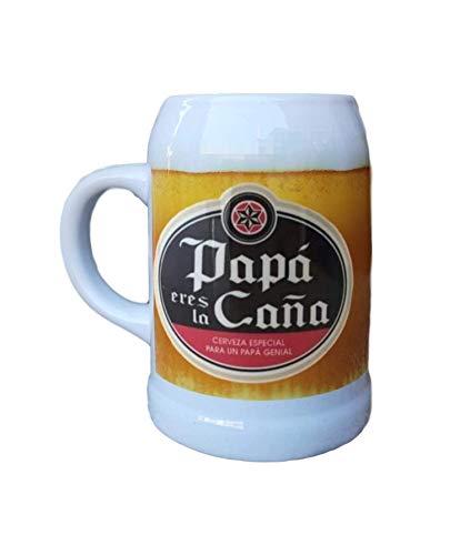 MI Jarra Ceramica Frase Papa Eres LA CAÑA, Cerveza Especial para UN Papa Genial Regalo Padre Regalo Abuelo