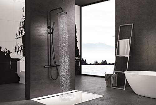 Barra de ducha Rociador de Acero Imex Dinamarca Negro BDR031-NG