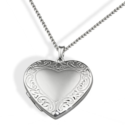 Goldmaid Damen-Halskette Medaillon Herz 925 Sterlingsilber 45 cm Herzanhänger