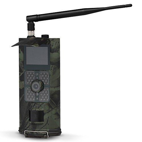 Lixada 16MP 1080 P 3G SMS GSM Trail Kamera Jagd Spiel Kamera Outdoor Wildlife Scouting Kamera mit PIR Sensor Infrarot Nachtsicht IP54 Wasserdicht