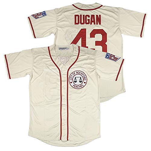 #43 Jimmy Dugan City of Rockford Peaches A League of Their Own Movie Men's Baseball Jersey Stitched Size XL