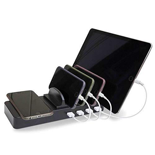 Soundlogic Multi USB Ladestation Wireless Charger Docking Station 4 USB Ladestationen mit induktiven Qi- Ladefläche