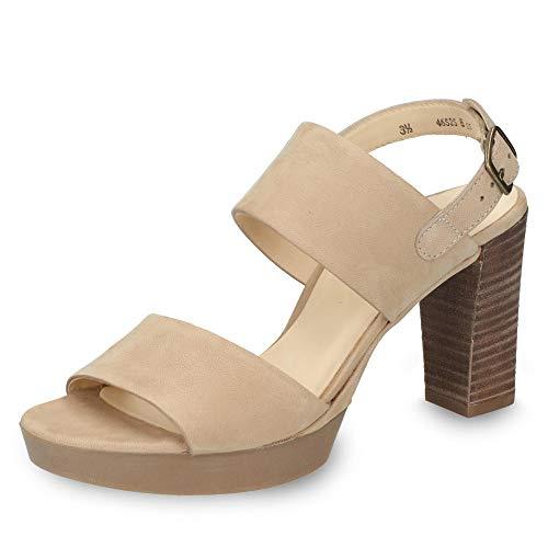 Paul Green 7279-004 Modieuze sandaal voor dames, van nubuckleer, met 80 mm hak