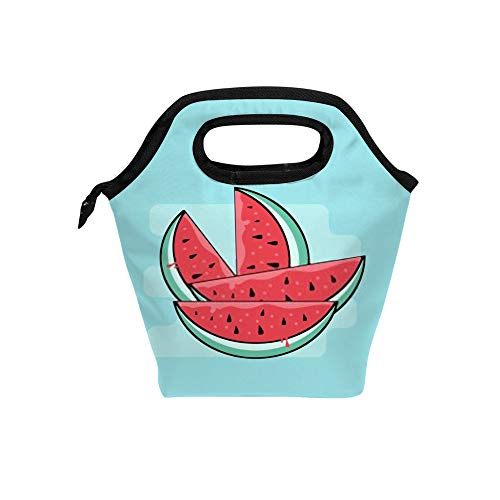 Reusable Lunch Bags Insulated Meal Prep Thermal Lunch Box Hot Cold Food Tote Leak Proof Portable Soft Bag Watermelon Clipart Office School Travel Camping Outdoor